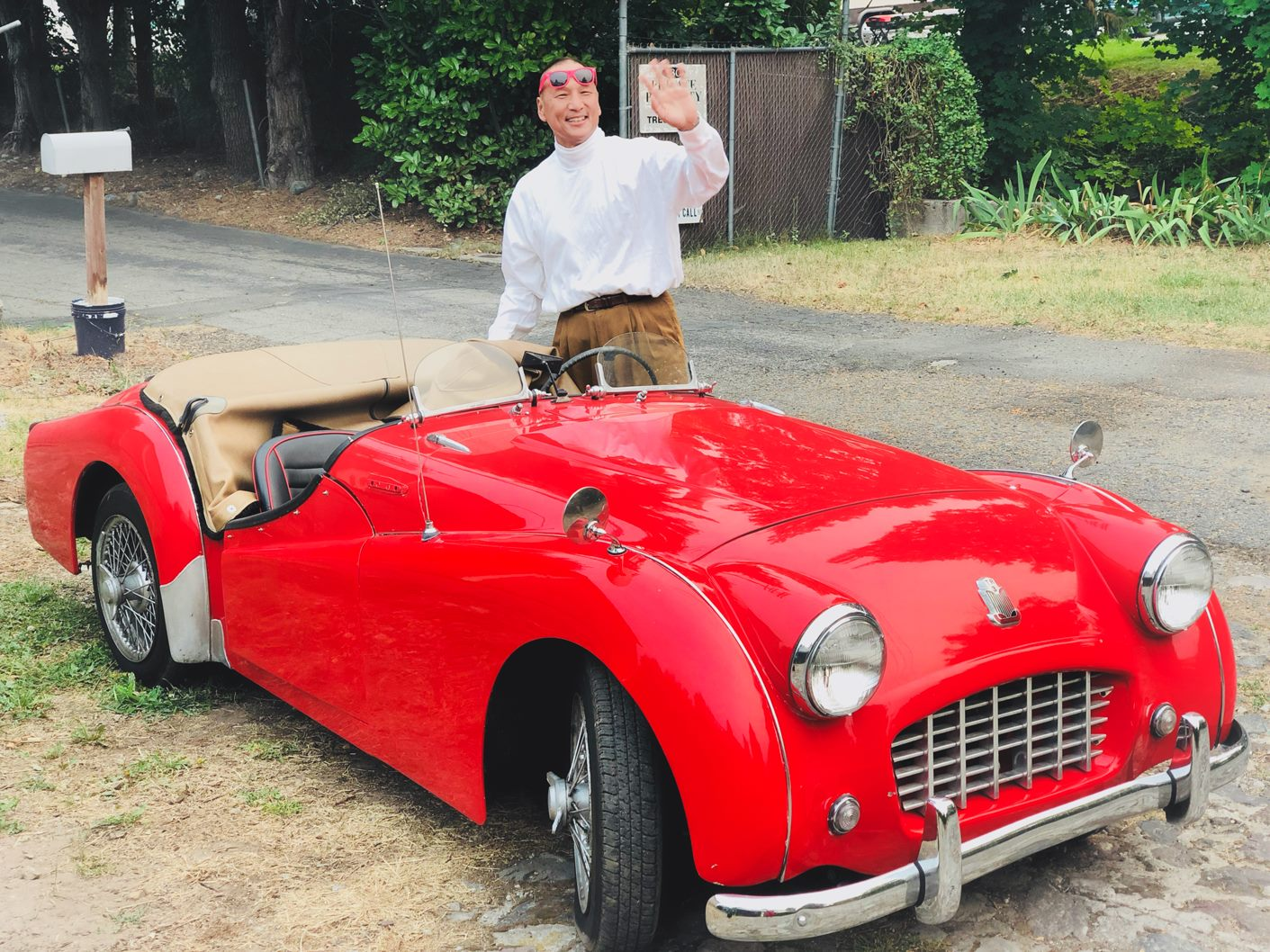 '57 Triumph, An Unlikely Family Car
