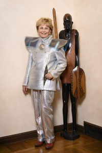 Photovoltaic Sun-powered Silver Two-piece Suit